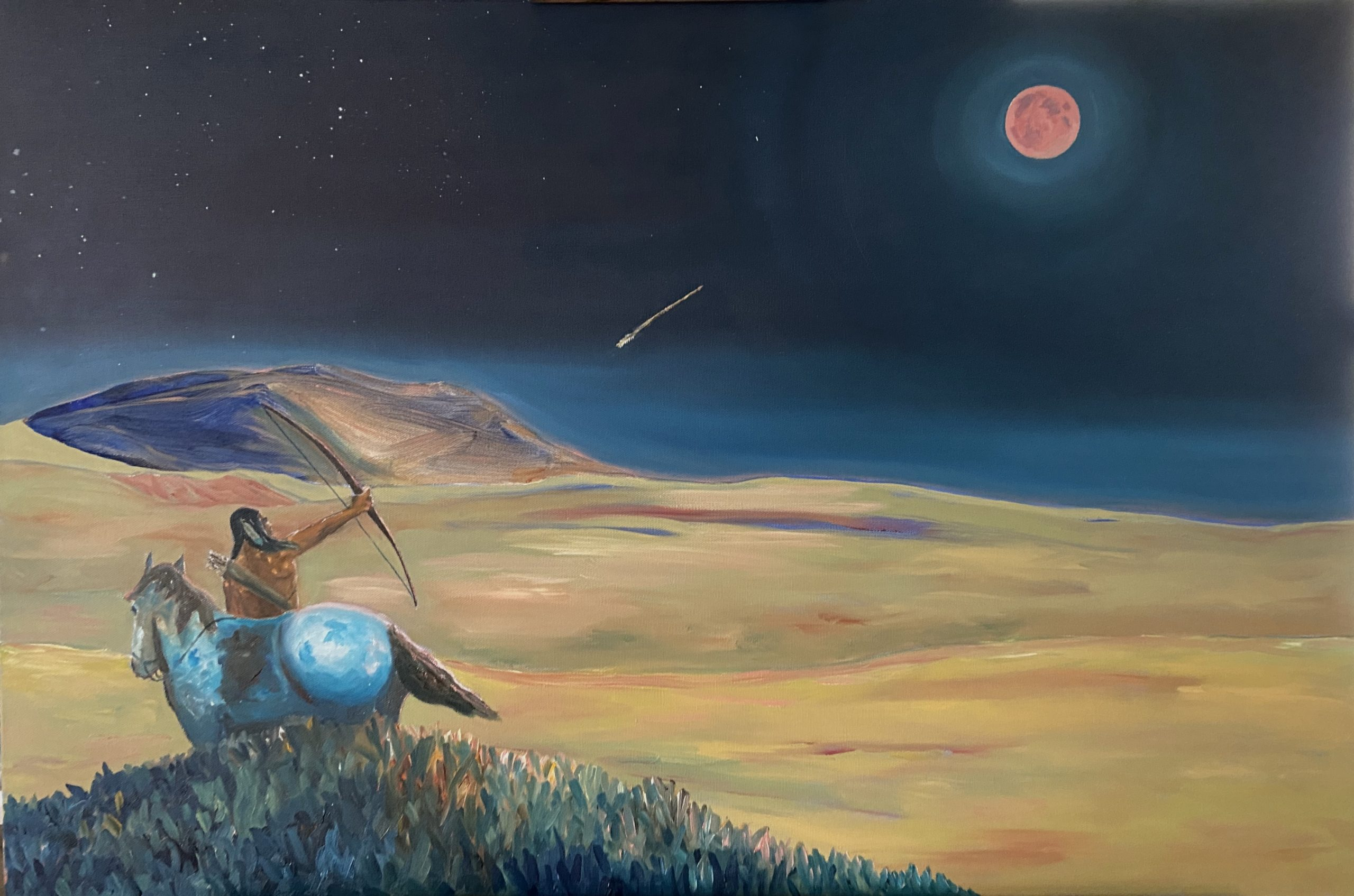 shoot the moon oil painting by chris reecer