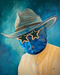 real men wear masks art by chris reecer