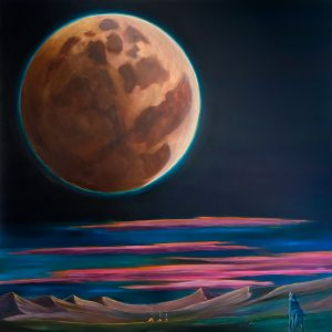 los lobo y la luna oil painting by chris reecer