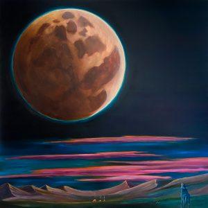 los lobo y la luna oil painting by chris reecer