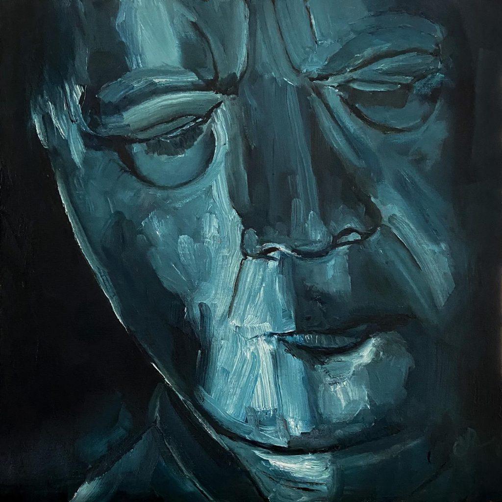 self in blue