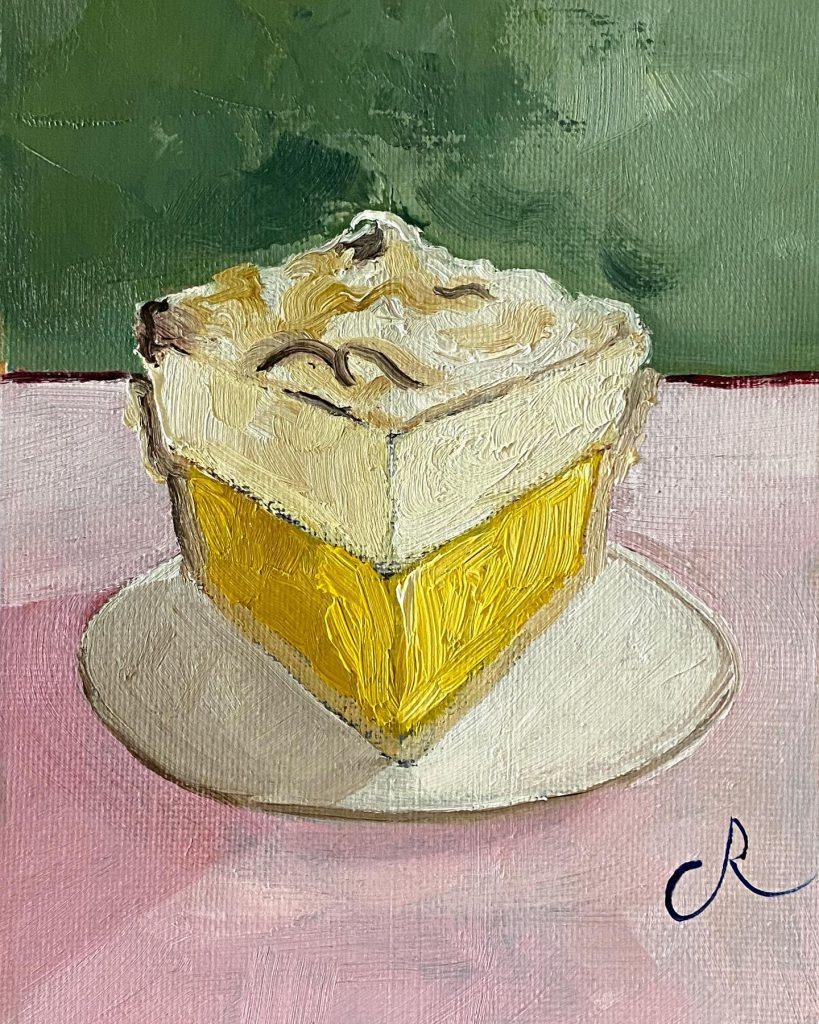 slice oil on canvas panel