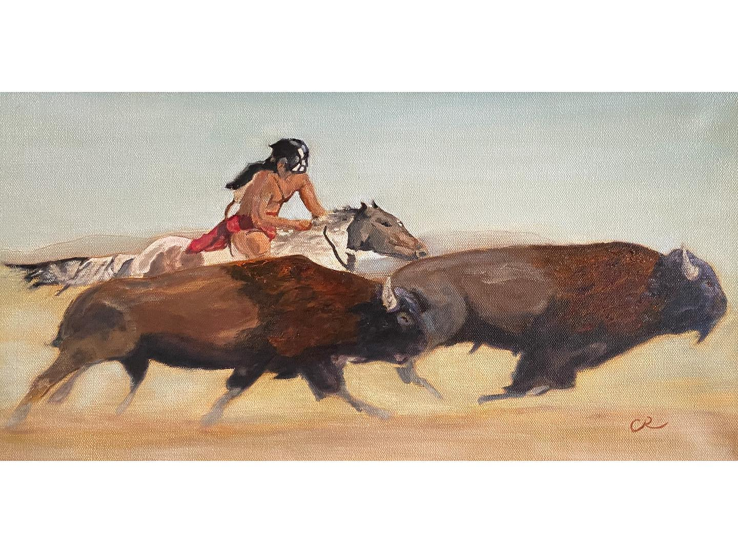 the great race oil on canvas by chris reecer