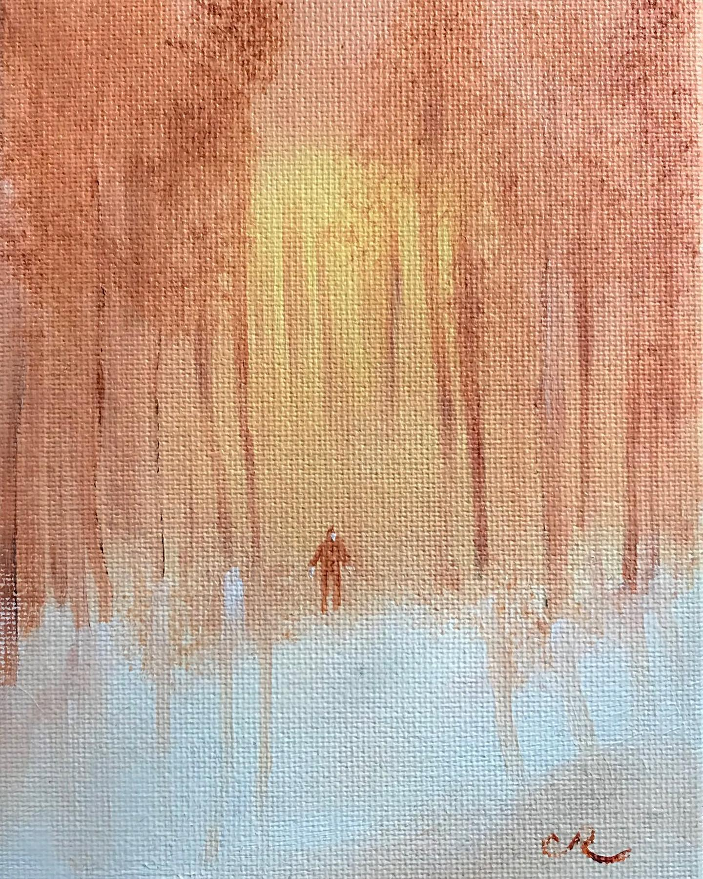 walk oil on panel by chris reecer